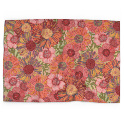 A Daisy Day (Summer Pink) Tea Towel