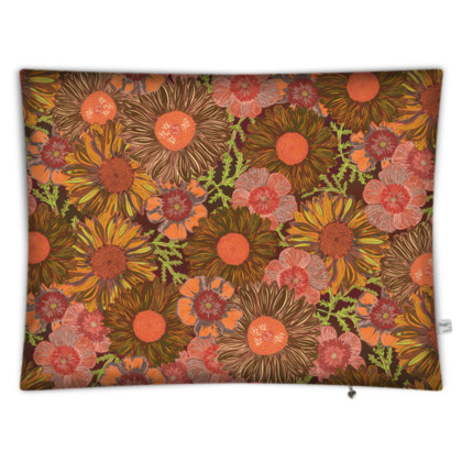A Daisy Day (Autumn Orange) Rectangular Floor Cushion