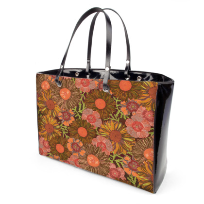A Daisy Day (Autumn Orange) Handbag