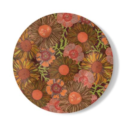 A Daisy Day (Autumn Orange) Decorative Plate