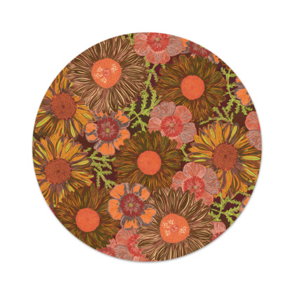 A Daisy Day (Autumn Orange) Serving Platter