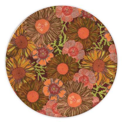 A Daisy Day (Autumn Orange) China Plate