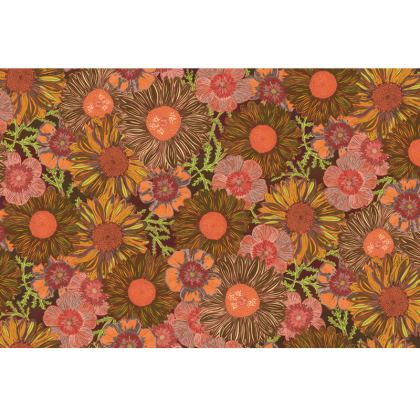 A Daisy Day (Autumn Orange) Fabric Placemat