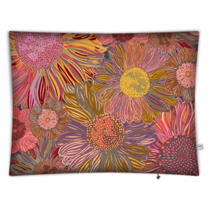 Daisy Dance Rectangular Floor Cushion