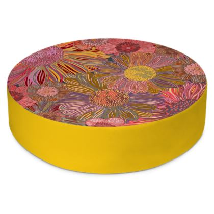 Daisy Dance Round Floor Cushion