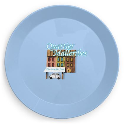 """Party Plate """"Quartier Malleribes"""" Blue"""