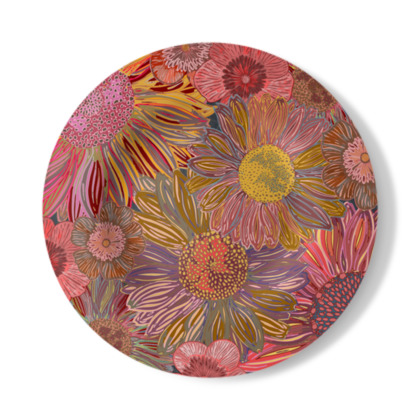 Daisy Dance Decorative Plate