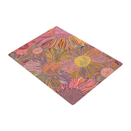 Daisy Dance Glass Chopping Board