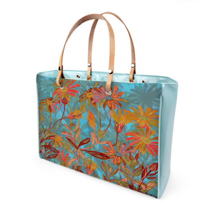 Fantasy Fall Flowers Handbag