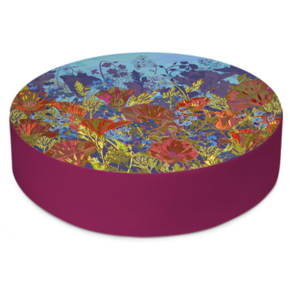 Remembering (Poppies) Round Floor Cushion