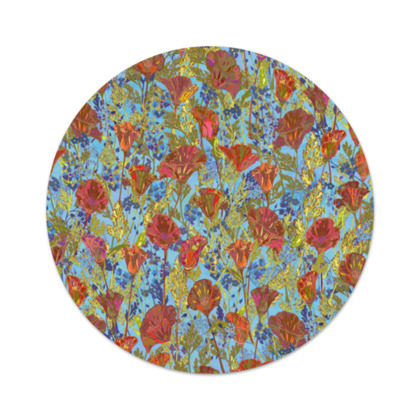 Poppy Pattern (Pale Blue) Serving Platter