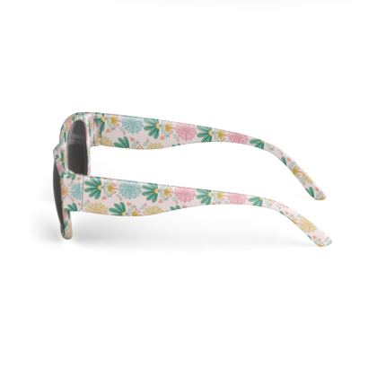 Pink Floral Craft Sunglasses