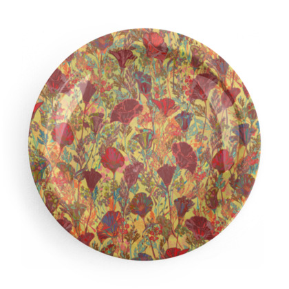 Poppy Pattern Party Plate Set