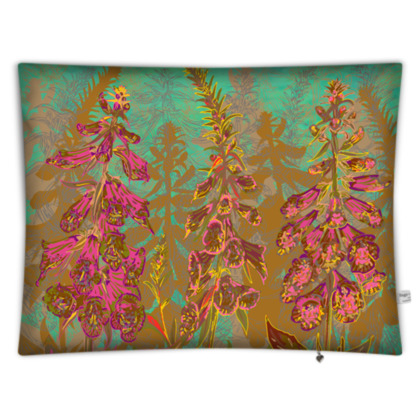 Fun with Foxgloves Rectangular Floor Cushion
