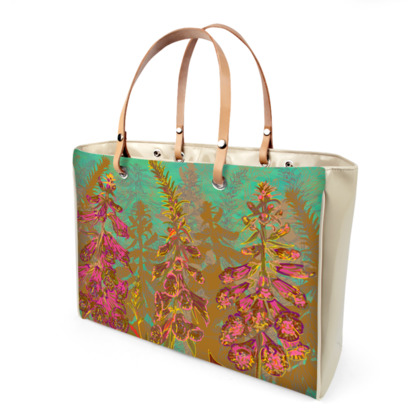 Fun with Foxgloves Handbag