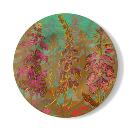 Fun with Foxgloves Decorative Plate