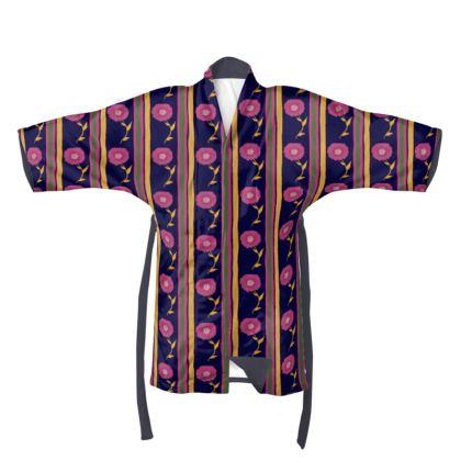Floral stripes Kimono