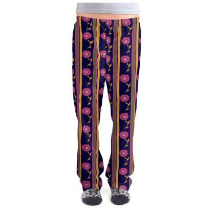 Floral stripes Pajama Bottoms