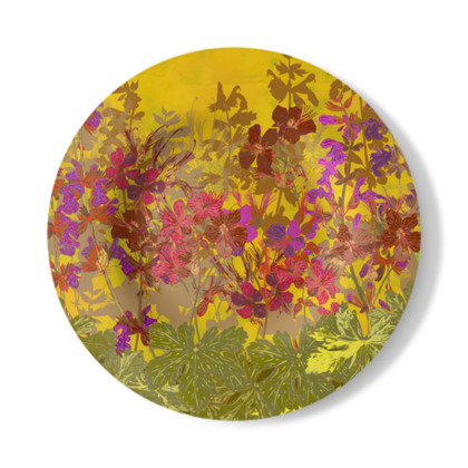 A Day in the Sun (Geraniums) Decorative Plate