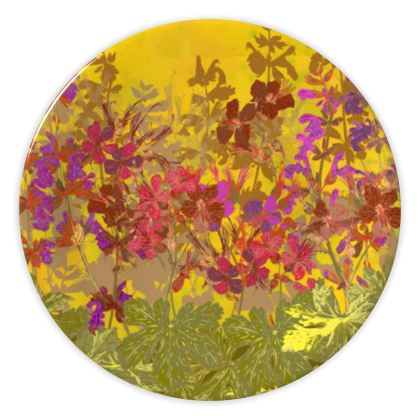 A Day in the Sun (Geraniums) China Plate