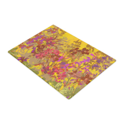 A Day in the Sun (Geraniums) Glass Chopping Board