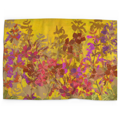 A Day in the Sun (Geraniums) Tea Towel