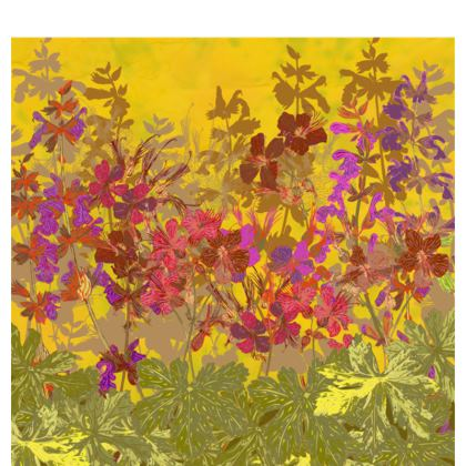 A Day in the Sun (Geraniums) Fabric Placemat