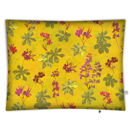 Summer Geranium Pattern Rectangular Floor Cushion