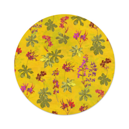 Summer Geranium Pattern Serving Platter