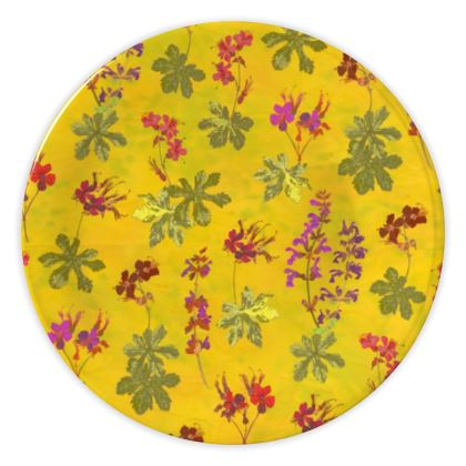 Summer Geranium Pattern China Plate