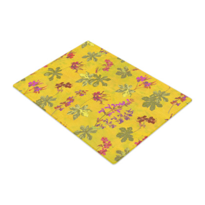 Summer Geranium Pattern Glass Chopping Board