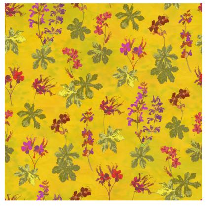 Summer Geranium Pattern Fabric Placemat