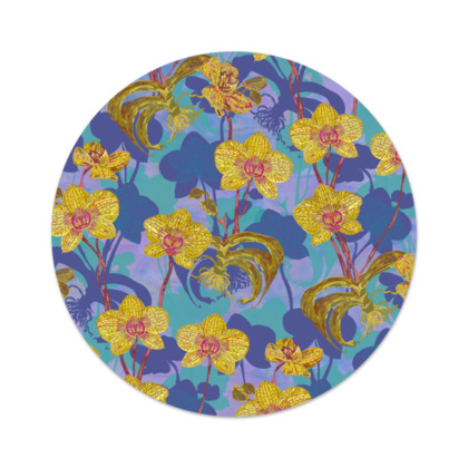 Tropical Orchids Serving Platter