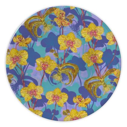 Tropical Orchids China Plate