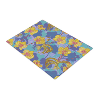 Tropical Orchids Glass Chopping Board