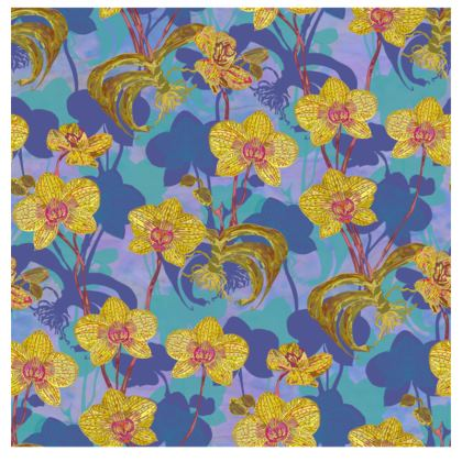 Tropical Orchids Fabric Placemat