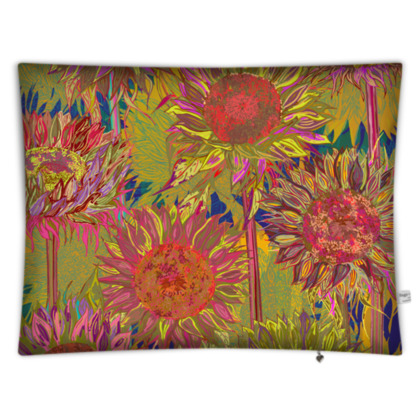 Sunflowers Rectangular Floor Cushion
