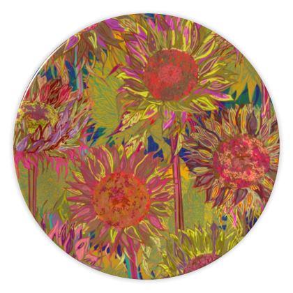 Sunflowers China Plate