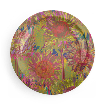 Vibrant Flowers Party Plate Set