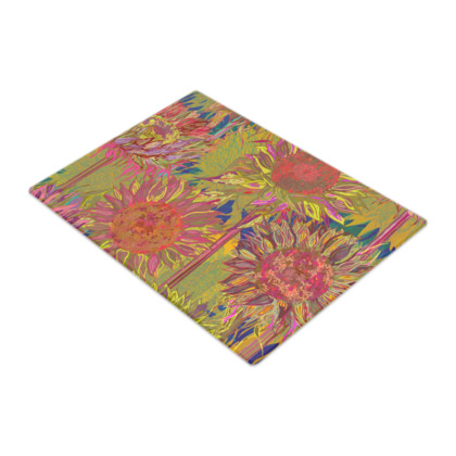 Sunflowers Glass Chopping Board