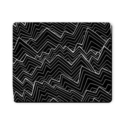 The black waves mouse mat
