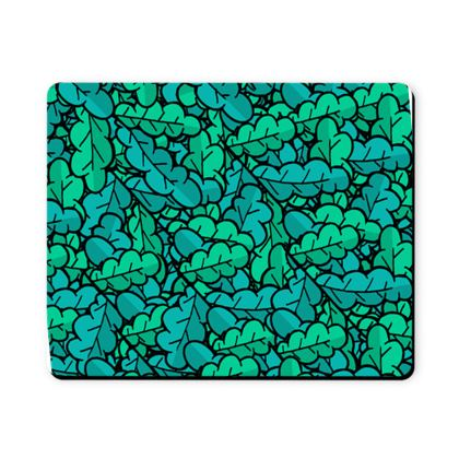 Spring green leaves mouse mat