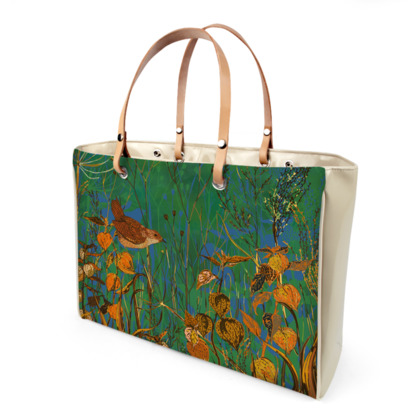Wren and Physalis Handbag
