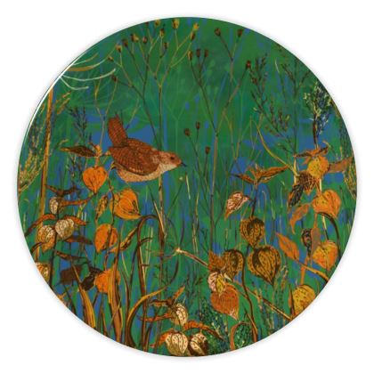 Wren and Physalis China Plate