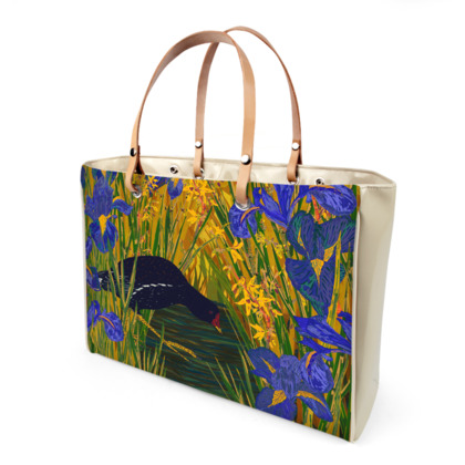 Iris and Moorhen Handbag