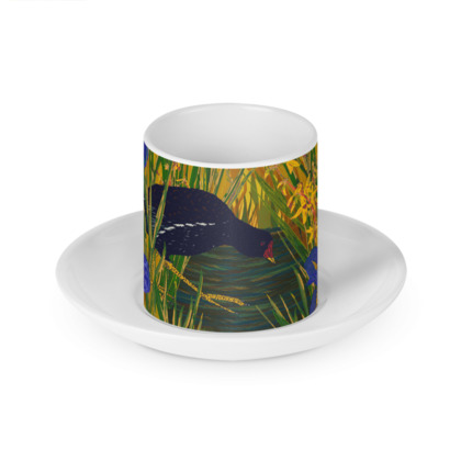 Iris and Moorhen Cup