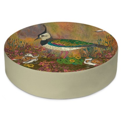 Lapwing Round Floor Cushion
