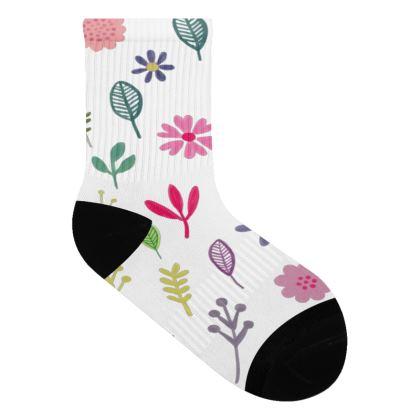 Stylized flower socks