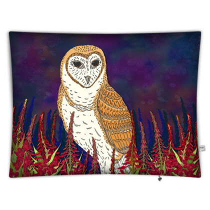 Fireweed Barn Owl Floor Cushion