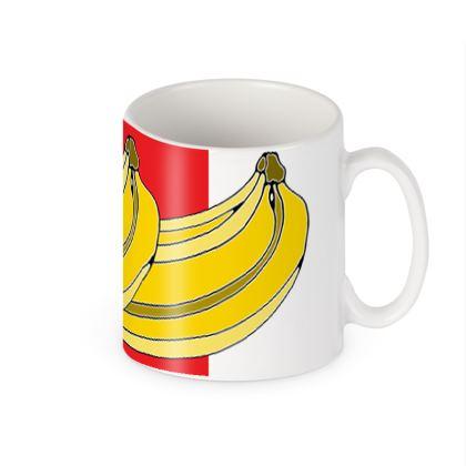Banana Colour Block Ceramic Mug